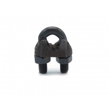 BLACK WIRE ROPE CLIP 6,5 MM DIN-741