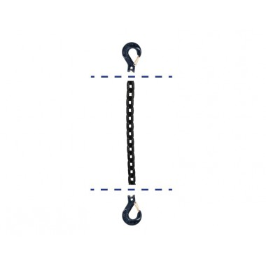 BLACK CHAIN WITH TWO HOOKS