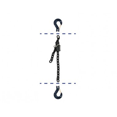 BLACK CHAIN WITH TWO HOOKS AND CHAIN SHORTENER