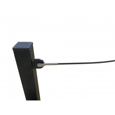 KIT SECURITY RAIL WITH STEEL CABLE