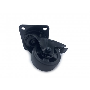BLACK WHEEL SWIVEL HOUSING OF 100 MM