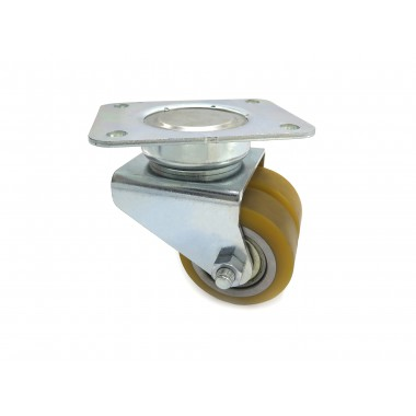 DOUBLE WHEEL SWIVEL OF 80MM