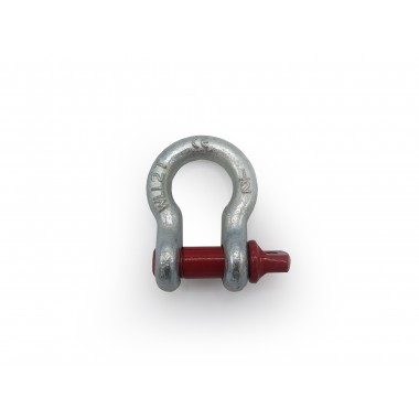 BOW SHACKLE WITH RED PIN 2TN